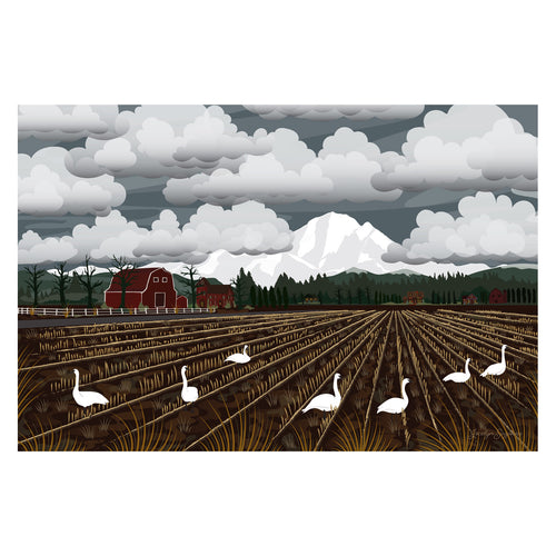 Art Print - Bellingham Mud Swans