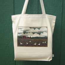 Load image into Gallery viewer, Cotton Tote Bag - Bellingham Mud Swan