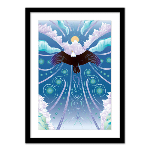 Art Print - Eagle Rising - Framed Giclee Print