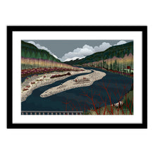 Load image into Gallery viewer, Art Print - North Fork Winter - Framed Giclee Print