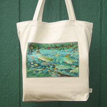Load image into Gallery viewer, Cotton Tote Bag - Salmon Magic