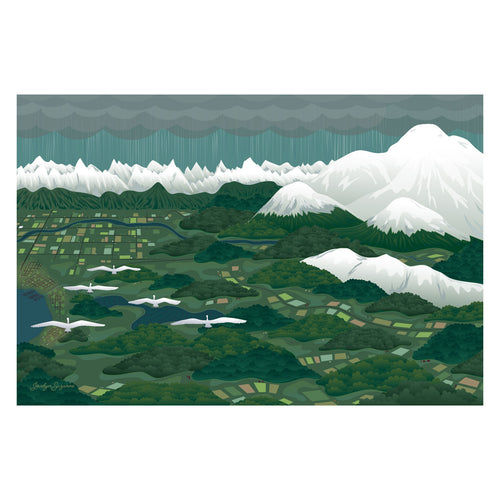 Art Print - Swans Above Whatcom