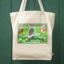 Load image into Gallery viewer, Organic Cotton Tote Bag - Trillium Woodpecker