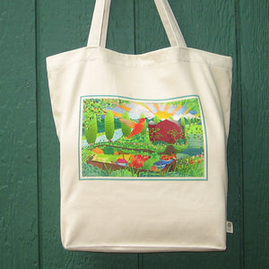 Cotton Tote Bag - Tulip Farm