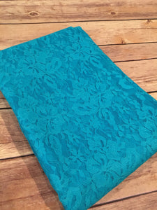 Turquoise Stretch Lace