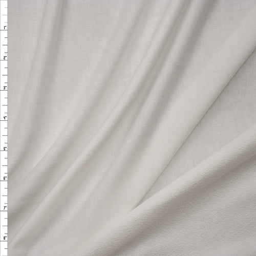 White Poly Rayon French Terry Solid