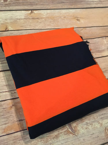 Orange/Navy Rugby Stripe