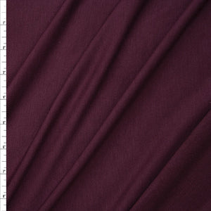 Wine Poly Rayon French Terry Solid