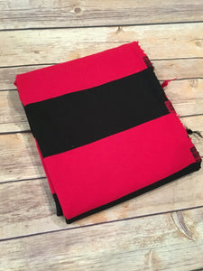 Red/Black Rugby Stripe (Yarn Dyed)