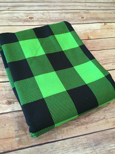 Lime Buffalo Plaid