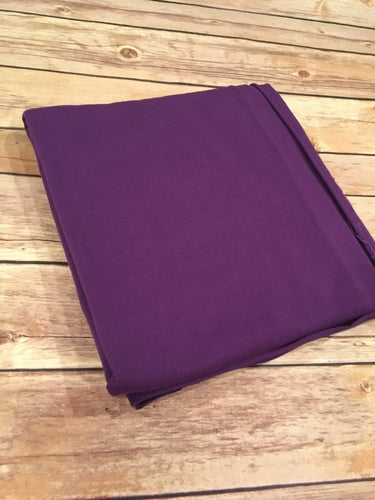 Dark purple French Terry Solid
