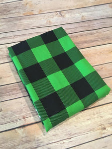 "Holiday Green Buffalo Plaid (1.5"" squares)"