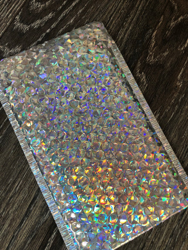 Holographic bubble mailer 6x9 (10 pack)