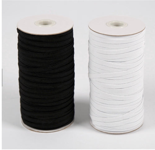 1/4 braided elastic by the roll - In Stock