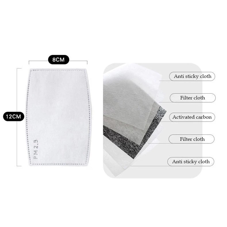 5 Layer Pm 2.5 Activated Carbon filters IN STOCK