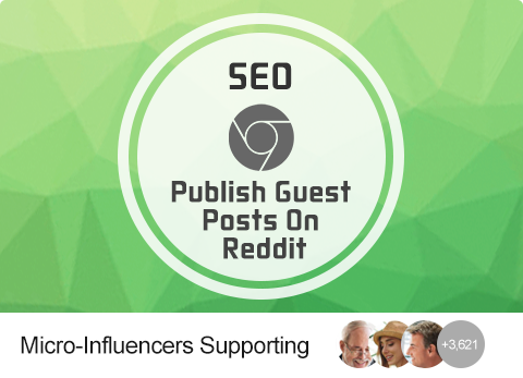 SEO - Publish Guest Posts On Reddit