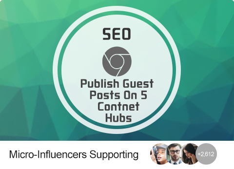 SEO - Publish Guest Posts On 5 Content Hubs