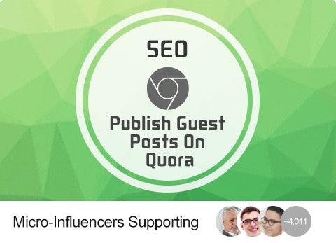 SEO - Publish Guest Posts On Quora