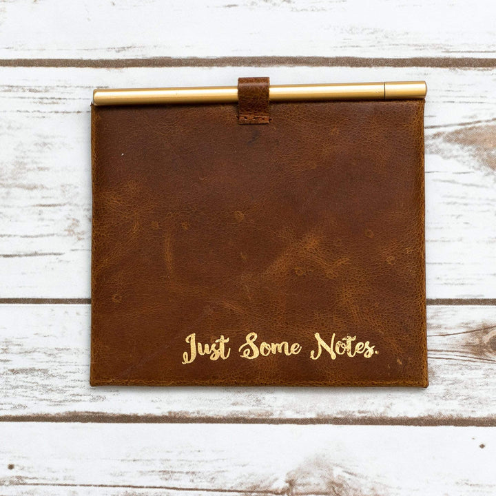 """Just Some Note"" Leather Envelop and Cards - Leather Journals By Soothi"