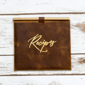 Leather Recipe Envelop and Cards - Leather Journals By Soothi
