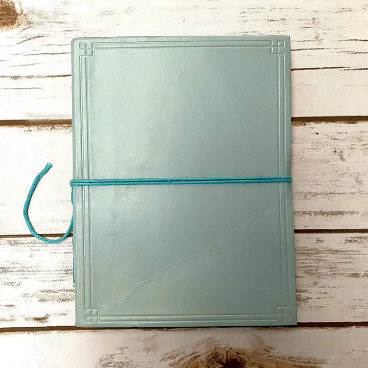Custom Leather Journals - Lined, Blue Tone 8x6 - Leather Journals By Soothi