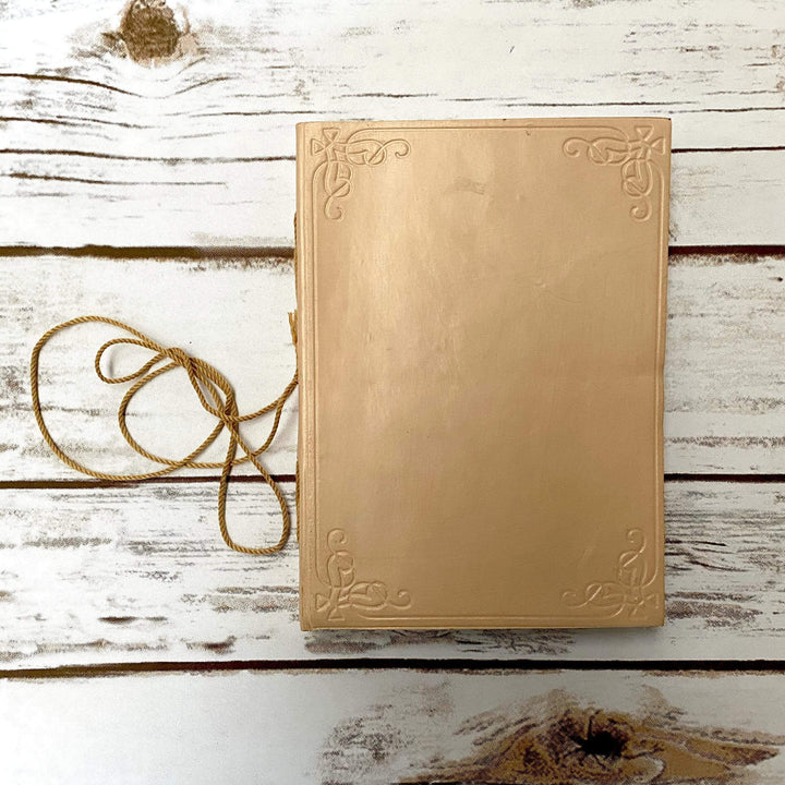 Custom Leather Journals - Blush 5x7 - Leather Journals By Soothi