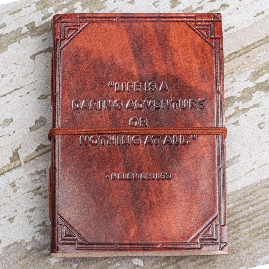 """A Daring Adventure"" Handmade Leather Journal - Leather Journals By Soothi"