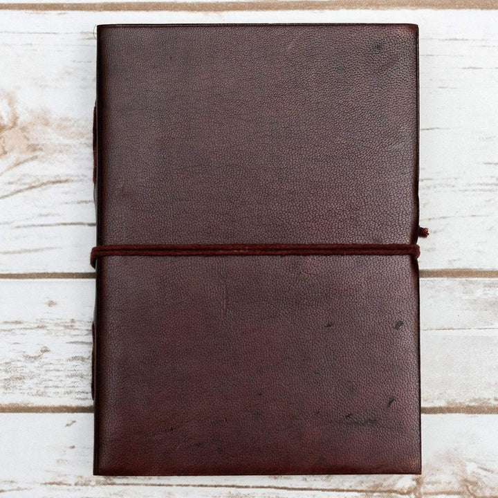 Custom Leather Journals - Dark Brown 5x7 - Leather Journals By Soothi