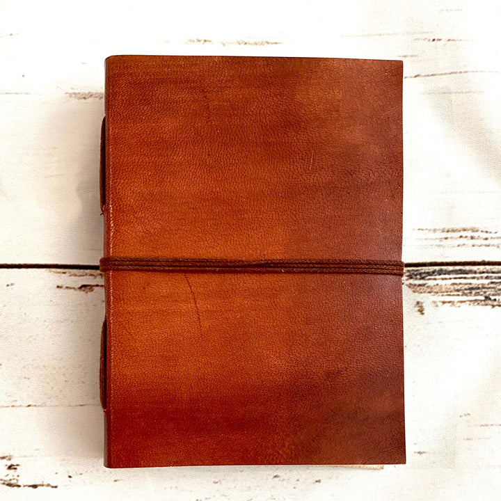 Custom Leather Journals - Lite Brown 5x7 - Leather Journals By Soothi