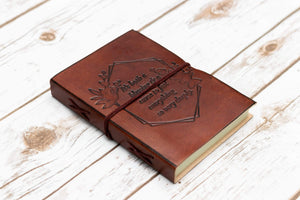 Feel Deeply Quote Handcrafted Leather Embossed Journal - Leather Journals By Soothi