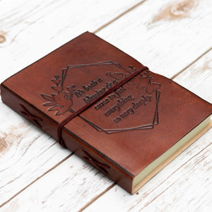 Feel Deeply Quote Leather Journal - 7x5