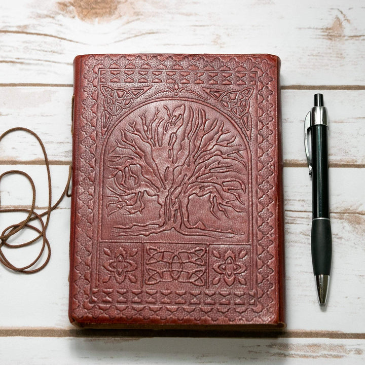 Tree Of Life Handmade Leather Journal - Leather Journals By Soothi