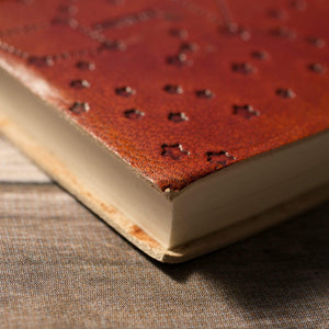 """Wonderful Nothings"" Jane Austen Handcrafted Leather Embossed Journal - Leather Journals By Soothi"