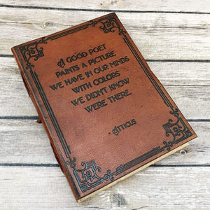 Atticus 'A Good Poet' Quote Leather Journal - 7x5