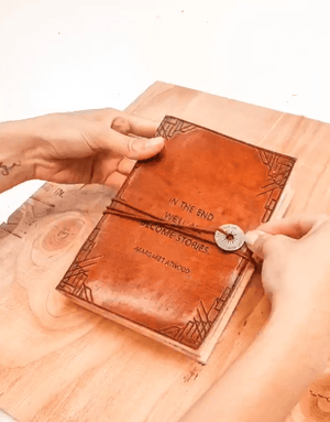 """But Still I Rise"" Handmade Leather Journal - Leather Journals By Soothi"