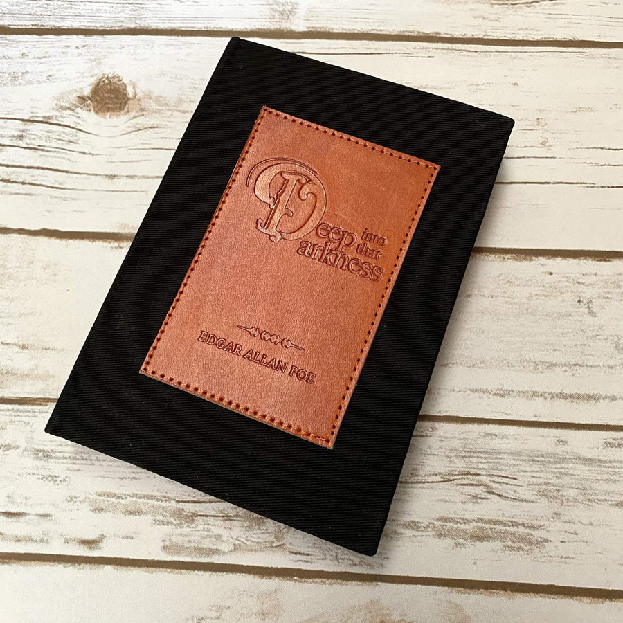 Edgar Allan Poe Deep Into The Darkness Bullet Journal - Leather Journals By Soothi
