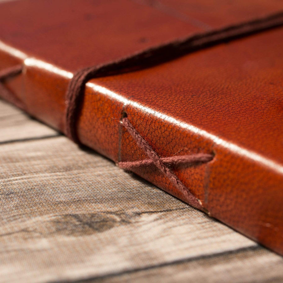 Grow Through Quote Handmade Leather Journal - Leather Journals By Soothi