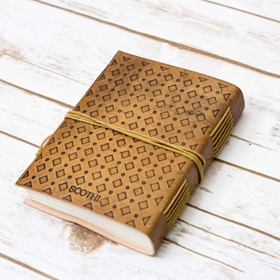 """Not Another Flower"" Handmade Leather Journal - Leather Journals By Soothi"