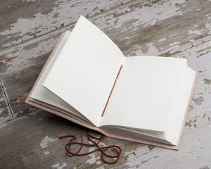 """We All Become Stories"" Handmade Leather Journal - Leather Journals By Soothi"