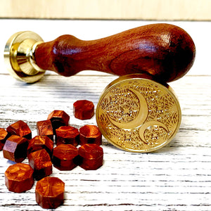 WAX SEAL STAMP - Moon And Star - Leather Journals By Soothi
