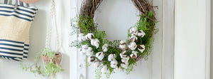 Cotton Stem Wreath