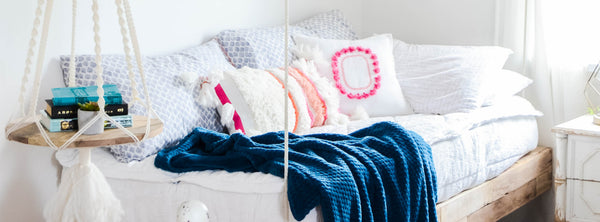 Girls Room Refresh With DIY Hanging Bed