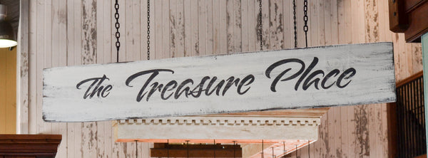 Retail Store Signs at The Treasure Place