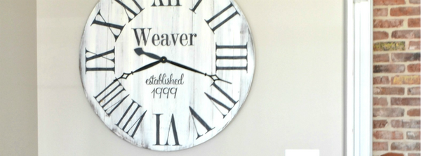 Personalized Reclaimed Wood Clocks {new!}