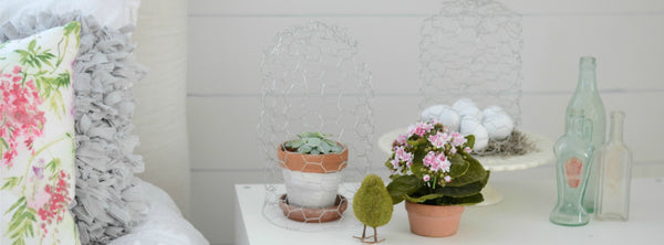 DIY Chicken Wire Cloches