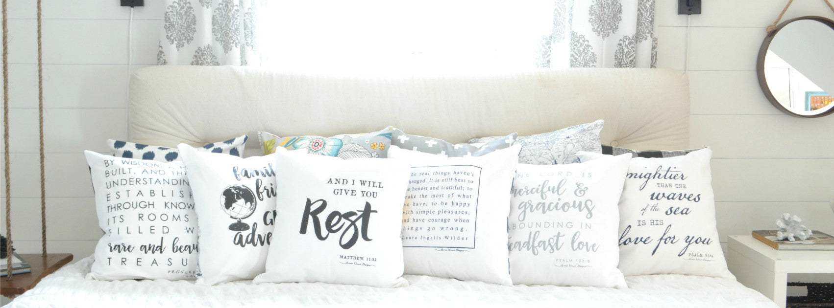 Lettered pillows in the shop!