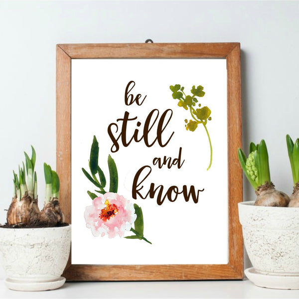 Be still and know printable by Aimee Weaver Designs