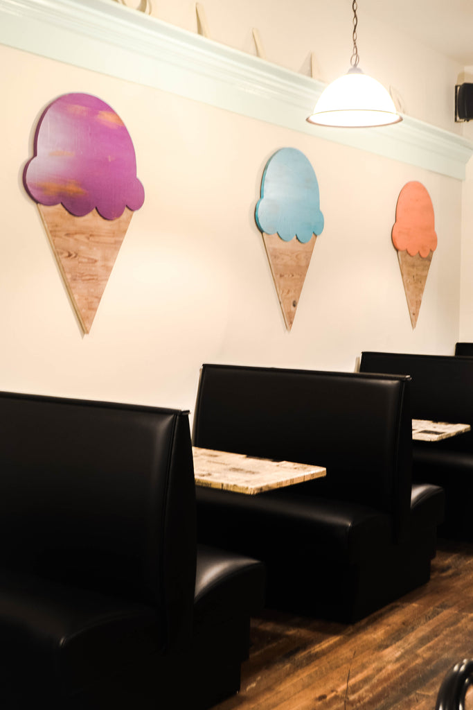 Ice Cream Cone Wall Decor
