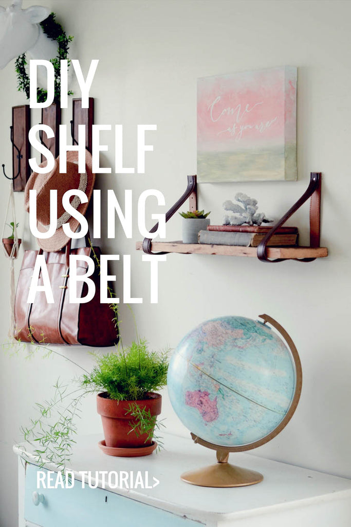 DIY shelf using a belt