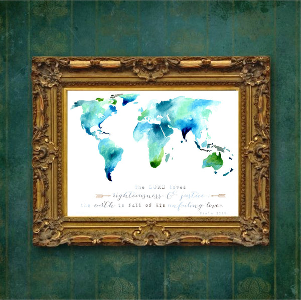 World map printable by Aimee Weaver Designs
